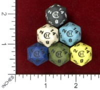 Dice : MINT46 CRIT HIT CERAMICS PROMO D20