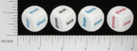 Dice : NON NUMBERED OPAQUE ROUNDED SOLID KOPLOW ENGLISH GERMAN FRENCH SPANISH COMPARISON 01