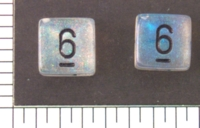 Dice : NUMBERED TRANSLUCENT ROUNDED CHESSEX BOREALIS 2
