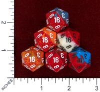 Dice : MINT46 CHESSEX D20 TWO TONE