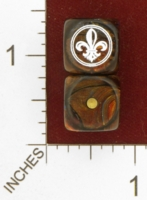 Dice : MINT26 CHESSEX CUSTOM FOR EBAY RACERSKA FLEUR DE LIS 01