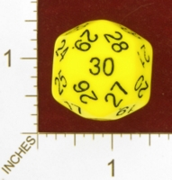 Dice : D30 UNKNOWN YELLOW 01