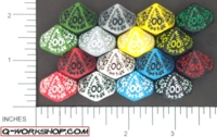 Dice : D10 OPAQUE ROUNDED SOLID Q WORKSHOP RUNIC 02