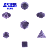 Dice : STONE MULTI CRYSTAL CASTE GOLDSTONE SYNTHETIC BLUE