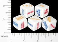 Dice : NON NUMBERED OPAQUE AND CLEAR ROUNDED SOLID GAMESTATION ANHEUSER BUSCH 180