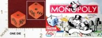 Dice : MINT25 PARKER BROTHER MONOPOLY 01 SPEED DIE