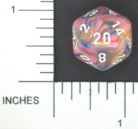 Dice : D20 OPAQUE ROUNDED SWIRL CHESSEX MENAGERIE 01