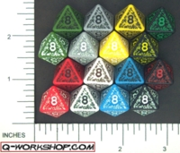 Dice : D8 OPAQUE ROUNDED SOLID Q WORKSHOP ELVEN 01