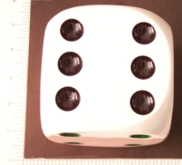 Dice : LG PLASTIC D6 OPAQUE ROUNDED SOLID 1