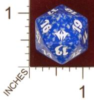 Dice : D20 OPAQUE ROUNDED SPECKLED MTG LIFE COUNTERS DARK ASCENSION 03