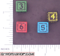 Dice : NUMBERED OPAQUE ROUNDED SOLID Q WORKSHOP RUNIC II 02