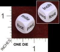 Dice : MINT34 KOPLOW MILE YARD FOOT INCH 01