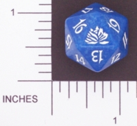 Dice : D20 OPAQUE ROUNDED SPECKLED MTG LIFE COUNTERS ORIGINAL LOTUS 03