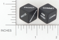 Dice : NON NUMBERED OPAQUE ROUNDED SOLID GAMESTATION FUNDY TEXTILE