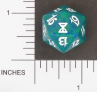 Dice : D20 OPAQUE ROUNDED SPECKLED MTG LIFE COUNTERS TIME SPIRAL 05