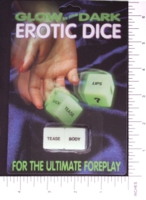 Dice : SEX PIPE DREAM 02 GLOW IN THE DARK EROTIC DICE