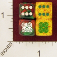 Dice : MINT25 CHESSEX CUSTOM FOR EBAY RACERSKA ADINKRA DWENNIMMEN RAMS HORNS 01