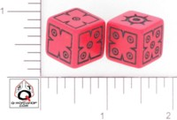 Dice : D6 OPAQUE ROUNDED SOLID Q WORKSHOP UNKNOWN 02