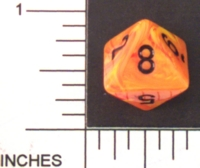 Dice : D8 OPAQUE ROUNDED SWIRL CHESSEX VORTEX MAGMA