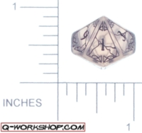 Dice : D10 CLEAR ROUNDED SOLID Q WORKSHOP MYSTIC 01
