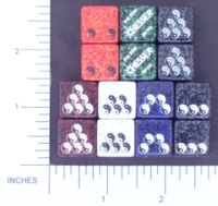 Dice : D6 OPAQUE ROUNDED SPECKLED CHESSEX 06 YIN YANG