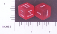 Dice : NON NUMBERED TRANSLUCENT ROUNDED SOLID DESTINY DICE ARGUMENT ENDER 01