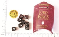 Dice : DUPS03 GAMES WORKSHOP LORD OF THE RINGS FORCES OF EVIL