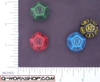 Dice : D12 OPAQUE ROUNDED SOLID Q WORKSHOP RUNIC II 02