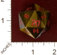 Dice : STONE D20 CRYSTAL CASTE TIGERS EYE 01