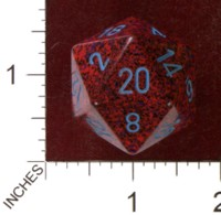 Dice : D20 OPAQUE ROUNDED SPECKLED CHESSEX VERONIA JUMBO