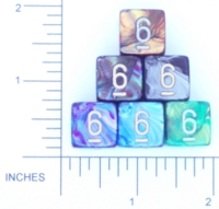 Dice : NUMBERED OPAQUE ROUNDED IRIDESCENT CHESSEX LUSTROUS 01