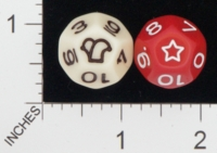 Dice : D12 OPAQUE ROUNDED SOLID KOPLOW 01