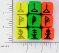 Dice : NON NUMBERED OPAQUE ROUNDED SOLID DIVINATION 04