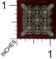 Dice : MINT30 SHAPEWAYS MCTRIVIA D6 GRID DIE 16 01