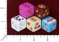 Dice : MINT46 UNKNOWN CHINESE ANIMALS PIG MONKEY PANDA SHEEP PENGUIN