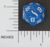 Dice : D20 OPAQUE ROUNDED SPECKLED MTG LIFE COUNTERS MIRRODIN 04