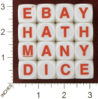 Dice : MINT28 UNKNOWN BOGGLE