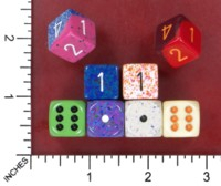 Dice : MINT52 CHESSEX D6 FROM POUND