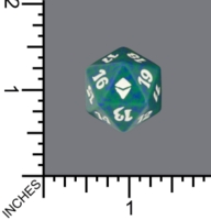 Dice : D20 MTG OPAQUE ROUNDED SPECKLED WIZARDS OF THE COAST MTG ZENDIKAR 05