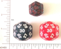 Dice : D30 OPAQUE ROUNDED IRIDESCENT 2