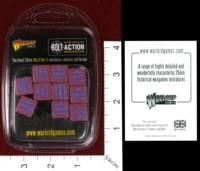 Dice : MINT34 WARLORD GAMES BOLT ACTION ORDER DICE MAROON 01