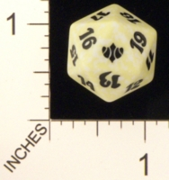 Dice : D20 OPAQUE ROUNDED SPECKLED MTG LIFE COUNTERS CONCLUX 02