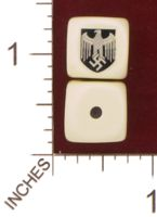Dice : MINT29 YAK YAKS NAZI GERMANY HEERESADLER WERMACHT SHIELD 01