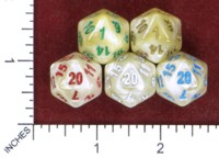 Dice : MINT50 UNKNOWN CHINESE IRIDESCENT D20