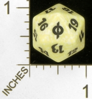 Dice : D20 OPAQUE ROUNDED SPECKLED MTG LIFE COUNTERS NEW PHYREXIA 02
