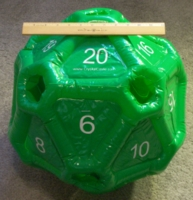 Dice : MINT24 CRYSTAL CASTE INFLATABLE D20 02