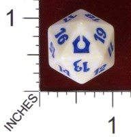 Dice : D20 OPAQUE ROUNDED SPECKLED MTG LIFE COUNTERS RETURN TO RAVNICA 01