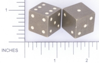 Dice : METAL BRASS D6 ACE PRECISION PIPPED 01