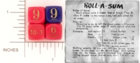 Dice : WOOD D6 ROLL A SUM 01