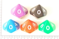 Dice : D10 OPAQUE ROUNDED SOLID JUMBO